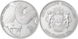World Coins - Coin, Gabon, Snake, 1000 Francs CFA, 1 Silver Oz, 2013, , Silver