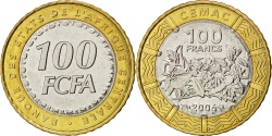 World Coins - CENTRAL AFRICAN STATES, 100 Francs, 2006, Paris, KM #15, , Bi-Metallic,...
