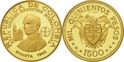 World Coins - Coin, Colombia, 1500 Pesos, 1968, , Gold, KM:235