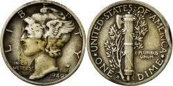 Us Coins - Coin, United States, Mercury Dime, Dime, 1940, U.S. Mint, Denver,