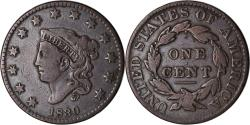 Us Coins - Coin, United States, Coronet Cent, Cent, 1830, U.S. Mint, Philadelphia