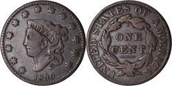 Us Coins - Coin, United States, Coronet Cent, Cent, 1830, U.S. Mint, Philadelphia