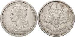 World Coins - Madagascar, Franc, 1948, Paris, , Aluminum, KM:3