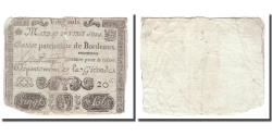 World Coins - France, 20 Sols, Undated (1791-92), BORDEAUX, F(12-15)