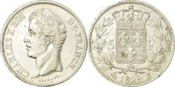 World Coins - Coin, France, Charles X, 5 Francs, 1829, Rouen, , Silver, KM:728.2