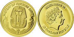 World Coins - Coin, Fiji, Elizabeth II, 10 Dollars, Masque funéraire, 2010, , Gold