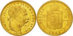 Ancient Coins - Coin, Hungary, Franz Joseph I, 8 Forint 20 Francs, 1882, Kormoczbanya