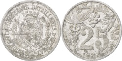 World Coins - France, 25 Centimes, 1922, , Aluminium, Elie #10.3, 2.04