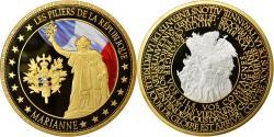 Us Coins - France, Medal, Les piliers de la République, Marianne, MS(64), Copper Gilt