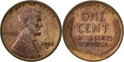 Us Coins - United States, Lincoln Cent, Cent, 1952, U.S. Mint, Denver, , Brass