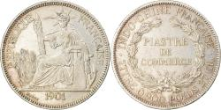 World Coins - Coin, FRENCH INDO-CHINA, Piastre, 1901, Paris, , Silver, KM:5a.1