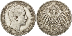 World Coins - German States, 5 Mark, 1907, Berlin, KM #523, , Silver, 38, 27.76