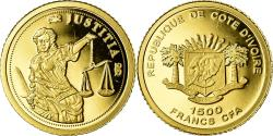 World Coins - Coin, Ivory Coast, Justice, 1500 Francs CFA, , Gold