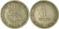 World Coins - Coin, SAINT THOMAS & PRINCE ISLAND, Escudo, 1948, , Nickel-Bronze, KM:9