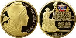 Us Coins - France, Medal, Marianne, La Marseillaise, MS(65-70), Copper Gilt