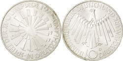 World Coins - GERMANY - FEDERAL REPUBLIC, 10 Mark, 1972, Munich, KM #130, , Silver,...