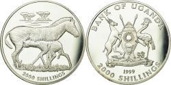 World Coins - Coin, Uganda, 2000 Shillings, 1999, , Silver, KM:95