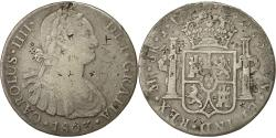 World Coins - Coin, Peru, Charles IV, 8 Reales, 1803, Lima, VF(20-25), Silver, KM 97