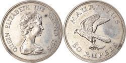 World Coins - Coin, Mauritius, 50 Rupees, 1975, , Silver, KM:41a