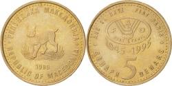 World Coins - MACEDONIA, 5 Denari, 1995, KM #7a, , Copper-Nickel-Zinc, 27.5, 7.27