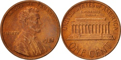 Us Coins - United States, Lincoln Cent, 1981, Philadelphia, KM:201