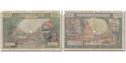 World Coins - Banknote, EQUATORIAL AFRICAN STATES, 500 Francs, Undated (1963), KM:4a, F(12-15)