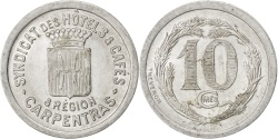 World Coins - France, 10 Centimes, , Aluminium, Elie #10.1, 1.71