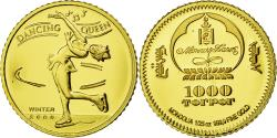 Ancient Coins - Coin, Mongolia, 1000 Tugrik, 2006, , Gold, KM:New