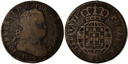 World Coins - Coin, Portugal, Jo, 40 Reis, Pataco, 1824, , Bronze, KM:370