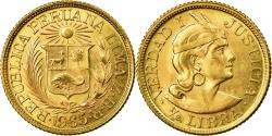 World Coins - Coin, Peru, 1/2 Libra, Pound, 1965, , Gold, KM:209