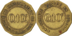 World Coins - France, 10 Centimes, , Brass, Elie #25.2, 1.91