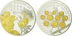 World Coins - France, Medal, 10 ans d'adieu au Franc, Liberté, Égalité, Fraternité