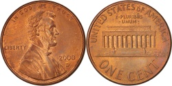 Us Coins - United States, Lincoln Cent, 2000, Denver, , KM:201b