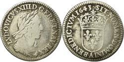 World Coins - Coin, France, Louis XIII, 1/12 Écu, 2e poinçon de Warin, buste drapé et