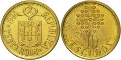 World Coins - Coin, Portugal, 10 Escudos, 1990, , Nickel-brass, KM:633
