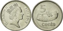 World Coins - Coin, Fiji, Elizabeth II, 5 Cents, 2010, , Nickel plated  steel, KM:119