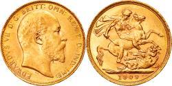 World Coins - Coin, Australia, Edward VII, Sovereign, 1909, Melbourne, , Gold, KM:15