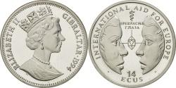 World Coins - GIBRALTAR, 14 ECUs, 1994, KM #483, , Silver, 10.22