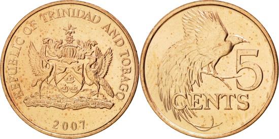 Bird of Paradise Trinidad /& Tobago 2001-5 Cents Bronze Coin