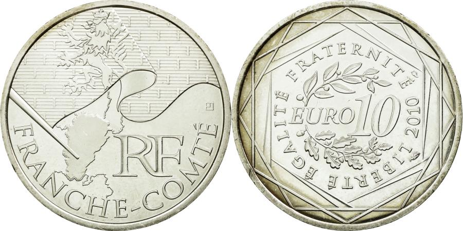 World Coins - Coin, France, 10 Euro, 2010, MS(60-62), Silver, KM:1653