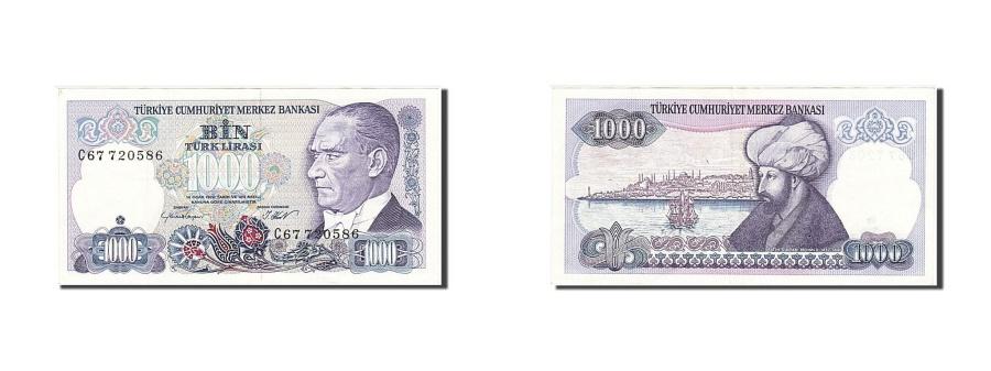 World Coins - Turkey, 1000 Lira, 1986, KM #196, AU(55-58), C67 720586