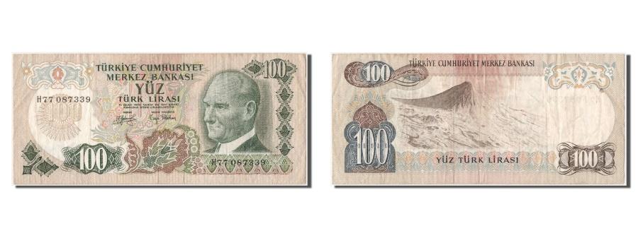 World Coins - Turkey, 100 Lira, 1970, KM #189a, AU(50-53), H77087339