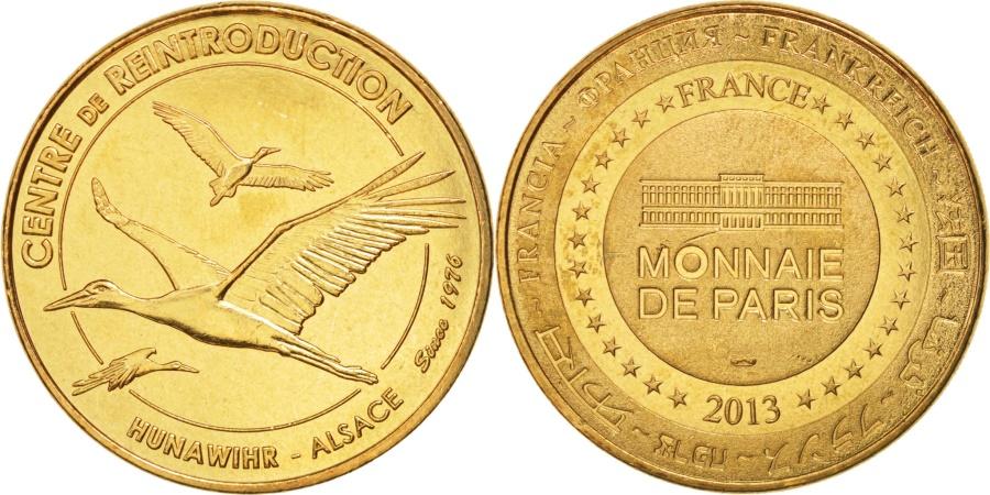 World Coins - France, Tourist Token, 68/ Centre de Réintroduction - Hunawihr, 2013, MDP
