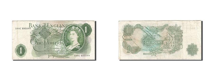 World Coins - Great Britain, 1 Pound, 1960-1964, KM:374g, 1970-1977, VF(20-25)