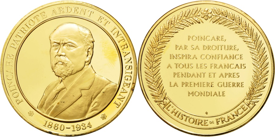 World Coins - FRANCE, History, French Third Republic, Medal, , Vermeil, 44, 37.00