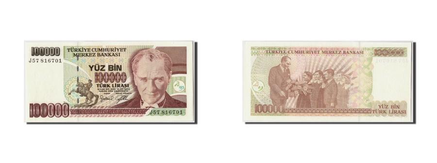World Coins - Turkey, 100,000 Lira, L.1970, KM:205, 1970-01-14, UNC(65-70)