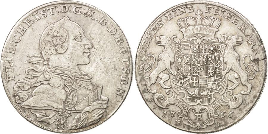 World Coins - German States, BRANDENBURG-BAYREUTH, Friedrich Christian, Thaler, 1766,