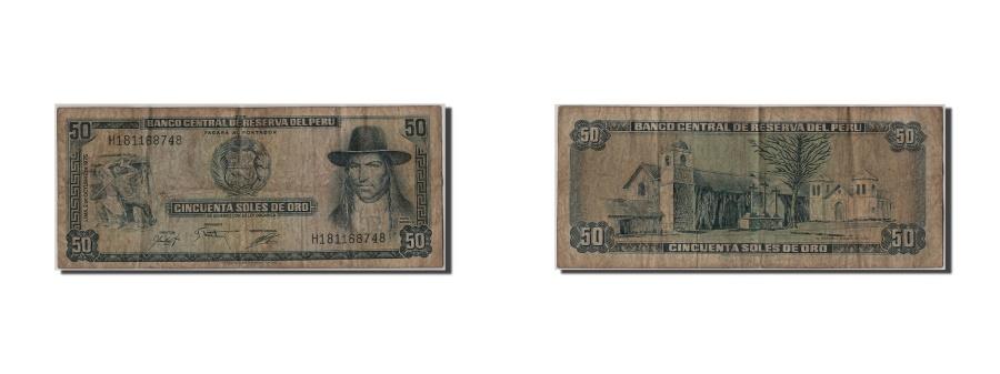 World Coins - Peru, 50 Soles de Oro, 1975, KM #107, 1975-08-02, F(12-15), H181168748