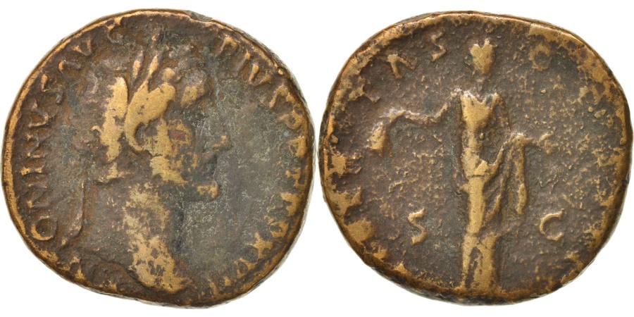 Ancient Coins - Antoninus Pius, Sestertius, 153, Roma, , Copper, RIC:916a