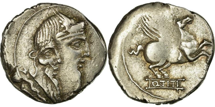 Ancient Coins - Coin, Titia, Denarius, Rome, AU(50-53), Silver, Babelon:1